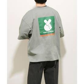 【WEB限定】エモズバーガーショップビッグ Tシャツ【ユニセックス】 (グレー)