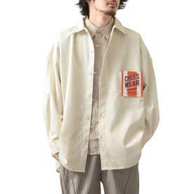 [Cooker Shirt]オーバーサイズシェフビックシャツジャケット【ユニセックス】 (アイボリー)