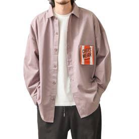 [Cooker Shirt]オーバーサイズシェフビックシャツジャケット【ユニセックス】 (パープル)