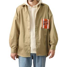 [Cooker Shirt]オーバーサイズシェフビックシャツジャケット【ユニセックス】 (ベージュ)
