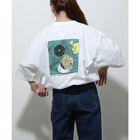 アソートイラストプリントビッグシルエット半袖Tシャツ【ユニセックス】 (ホワイト)