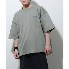 アソートイラストプリントビッグシルエット半袖Tシャツ【ユニセックス】 (グレー系)