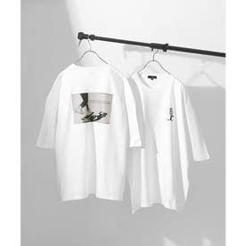 アソートイラストプリントビッグシルエット半袖Tシャツ【ユニセックス】 (ホワイト系1)