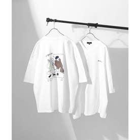 アソートイラストプリントビッグシルエット半袖Tシャツ【ユニセックス】 (ホワイト系2)