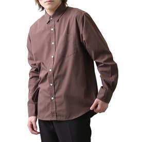 高密度T/Cブロード長袖レギュラーシャツ (パープル)