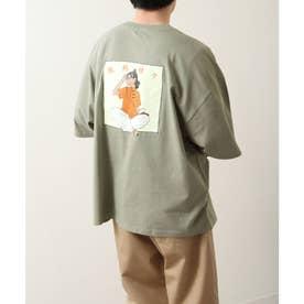 【UNCORD】【微熱娘々】チャイニーズイラストプリントBIG Tシャツ【ユニセックス】 (グリーン)