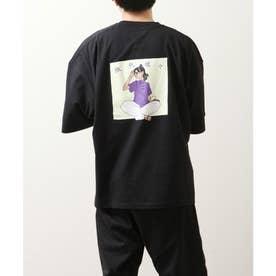 【UNCORD】【微熱娘々】チャイニーズイラストプリントBIG Tシャツ【ユニセックス】 (ブラック)