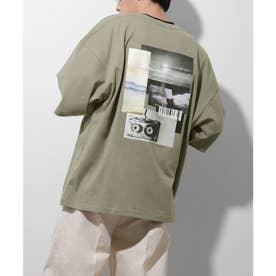 【UNCORD】コラージュフォトプリントBIG Tシャツ【ユニセックス】 (グリーン)
