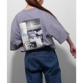 【UNCORD】コラージュフォトプリントBIG Tシャツ【ユニセックス】 (パープル)