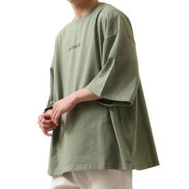 【コラボ】【ZIP FIVE×KANGOL】 ガールバックプリント半袖BIGTシャツ【ユニセックス】 (グリーン)