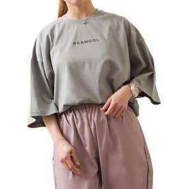 【コラボ】【ZIP FIVE×KANGOL】 ガールバックプリント半袖BIGTシャツ【ユニセックス】 (グレー)