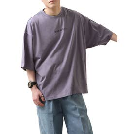 【コラボ】【ZIP FIVE×KANGOL】 インスタガールバックプリント半袖BIGTシャツ【ユニセックス】 (パープル)