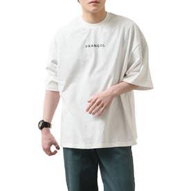 【コラボ】【ZIP FIVE×KANGOL】 インスタガールバックプリント半袖BIGTシャツ【ユニセックス】 (ホワイト)