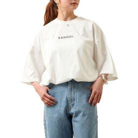 【コラボ】【ZIP FIVE×KANGOL】 同色バックプリントビッグ半袖Tシャツ【ユニセックス】 (ホワイト)