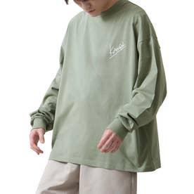 バックプリントエモガールイラスト長袖Tシャツ ロンT【ユニセックス】【2021 SPRING】 (グリーン)