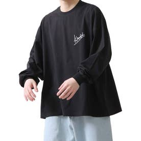 バックプリントエモガールイラスト長袖Tシャツ ロンT【ユニセックス】【2021 SPRING】 (ブラック)