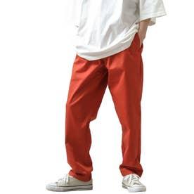 [Cooker Pants]テーパードワイドイージーシェフパンツ【ユニセックス】 (オレンジ)