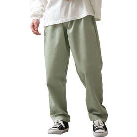 [Cooker Pants]テーパードワイドイージーシェフパンツ【ユニセックス】 (グリーン)