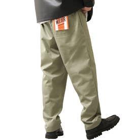 [Cooker Pants]テーパードワイドイージーシェフパンツ【ユニセックス】 (カーキ)