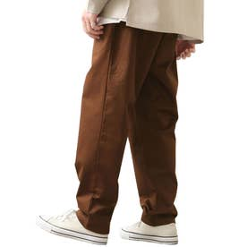 [Cooker Pants]テーパードワイドイージーシェフパンツ【ユニセックス】 (ブラウン)