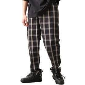 [Cooker Pants]テーパードワイドイージーシェフパンツ【ユニセックス】 (ブラック系1)
