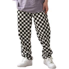[Cooker Pants]テーパードワイドイージーシェフパンツ【ユニセックス】 (ホワイト×ブラック)