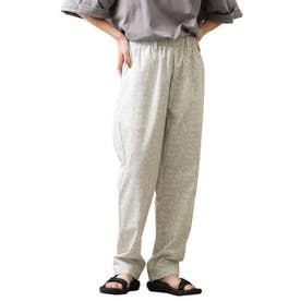 [Cooker Pants]テーパードワイドイージーシェフパンツ【ユニセックス】 (ホワイト系)