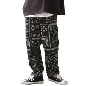 [Cooker Pants]テーパードワイドイージーシェフパンツ【ユニセックス】 (ブラック系)