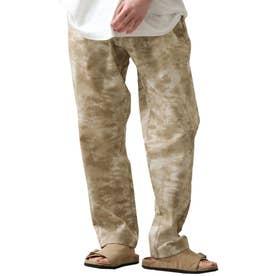[Cooker Pants]テーパードワイドイージーシェフパンツ【ユニセックス】 (ベージュ系)
