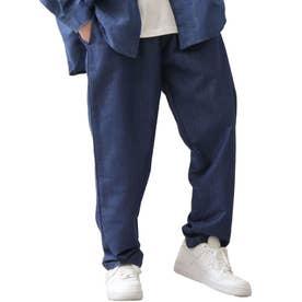 [Cooker Pants]テーパードワイドイージーシェフパンツ【ユニセックス】 (ブルー系)