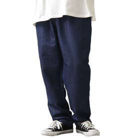 [Cooker Pants]テーパードワイドイージーシェフパンツ【ユニセックス】 (ネイビー)