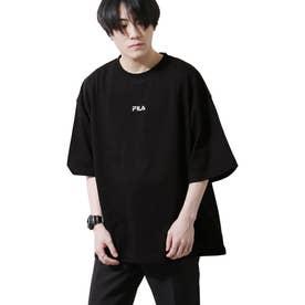 【FILA】高密度バッグプリントビッグシルエットTシャツ 半袖 【ユニセックス】 (ブラック)