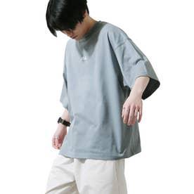 【FILA】高密度バッグプリントビッグシルエットTシャツ 半袖 【ユニセックス】 (ブルー)